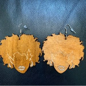 Wooden Afro-Centric Earrings